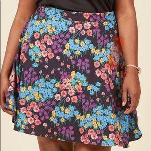 ModCloth Vintage Floral Skater Skirt